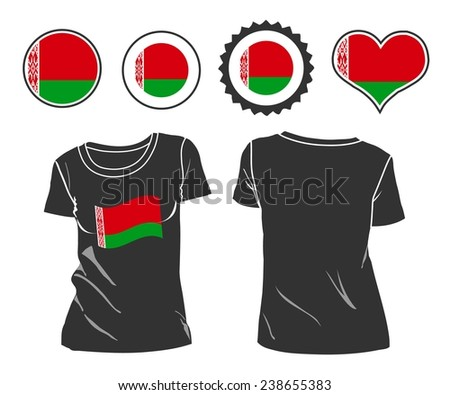 Business man rips open his shirt to show his Belarus flag t-shirt - stock vector