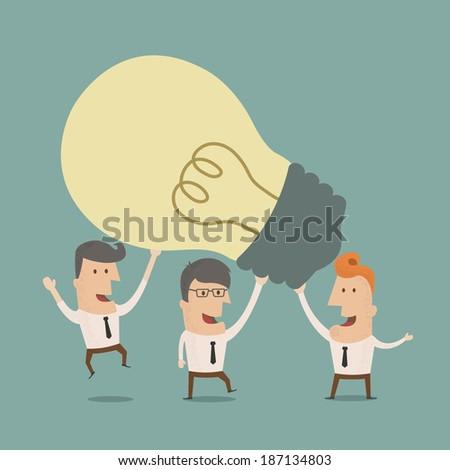 Business man teamwork  , eps10 vector format - stock vector
