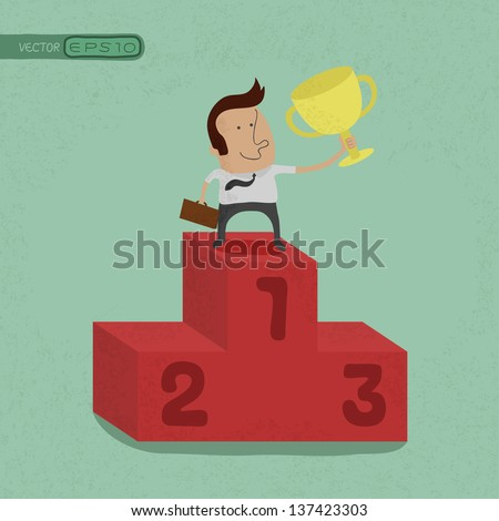 Business man the winner , eps10 vector format - stock vector