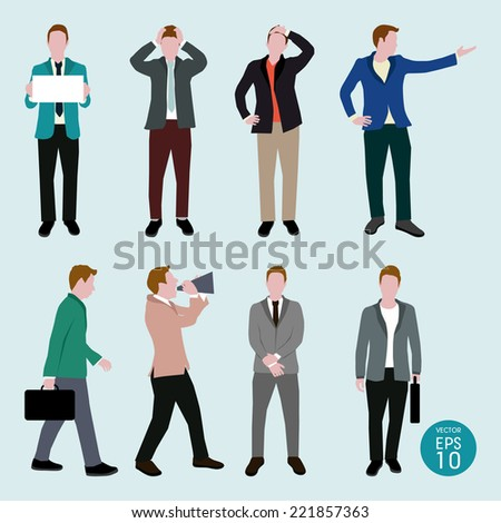 Business man vector - stock vector