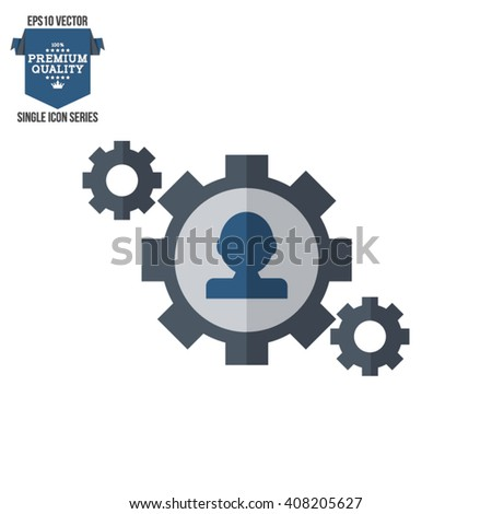 Business, Management, Human Resource Single Icon - stock vector