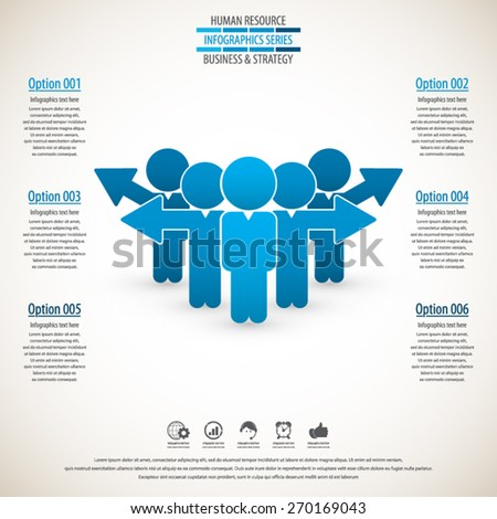 Business management ,strategy and human resource infographics - stock vector