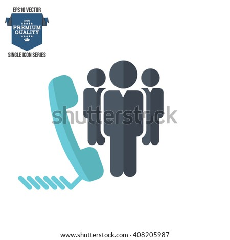 Business management, strategy or human resource icon - stock vector