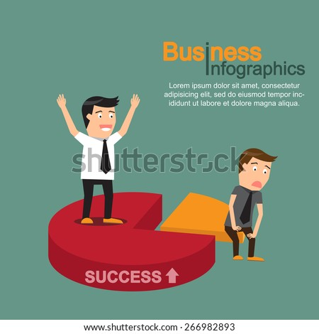 business market share concept. vector illustration. - stock vector
