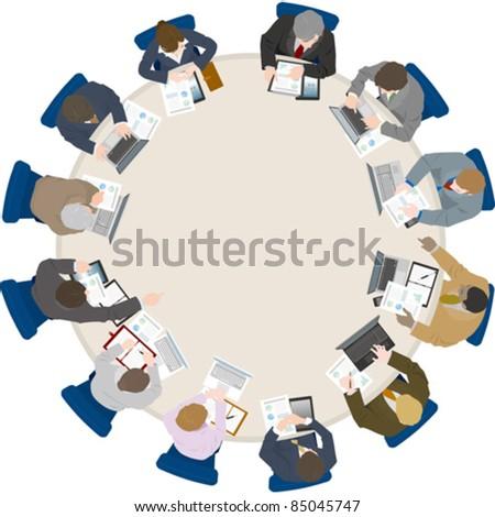 Business / Meeting - stock vector