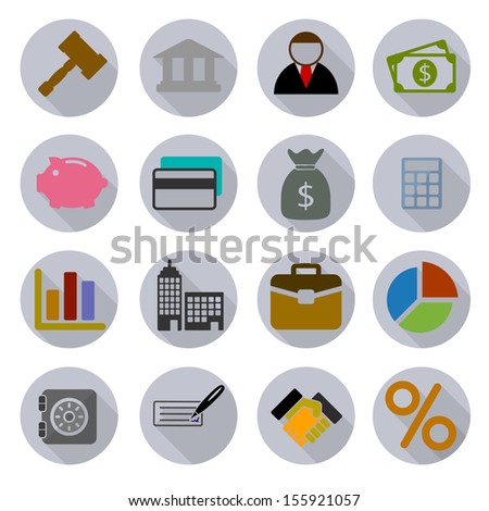 Business Modern Icons Set - stock vector