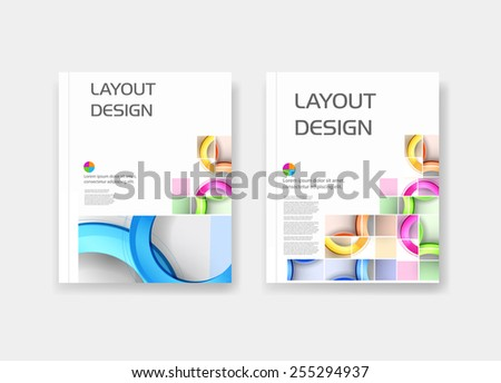 Business modern template easy all editable - stock vector