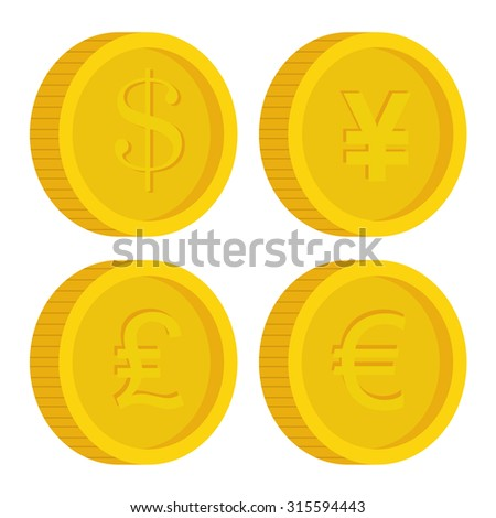 Business,money and global economy with colorful icons, vector illustration eps 10 - stock vector