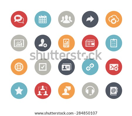 Business Network Icons // Classics Series - stock vector