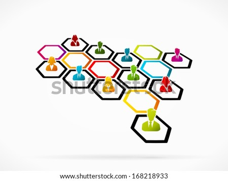 Business networking as a method of generating new business  - stock vector