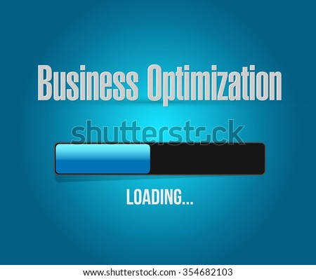 business optimization loading bar sign concept illustration design graphic - stock vector