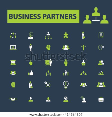 business partners icons  - stock vector