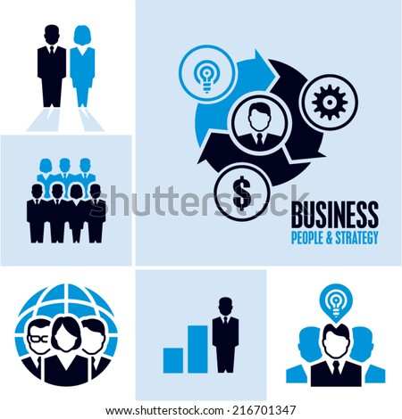 Business people. Business icons. - stock vector