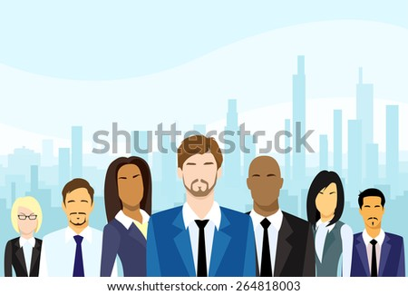 business people group diverse team vector illustration - stock vector