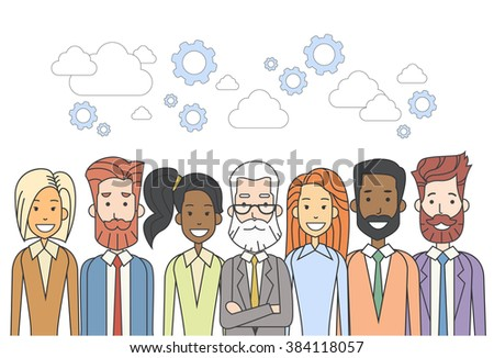 Business People Group Human Resources Teamwork Diverse Concept Vector Illustration - stock vector