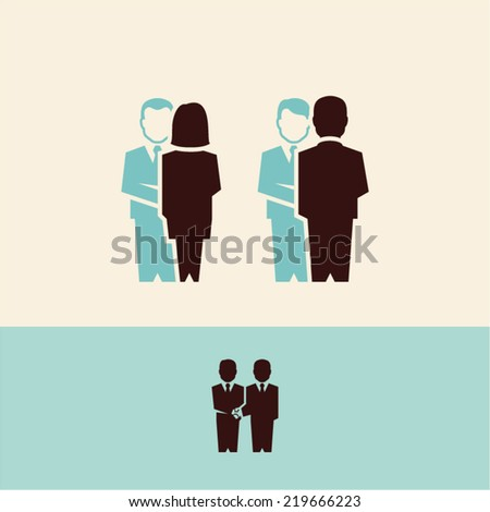 business people handshake - stock vector