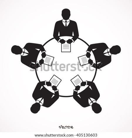 business people icon. Conference Icon. Icon Isolated on White Background - Vector  - stock vector