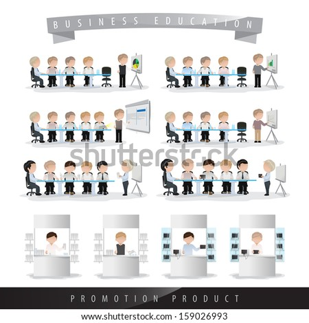 Business People In Work Isolated On White Background - Vector Illustration, Graphic Design Editable For Your Design. Team Working In Office. - stock vector