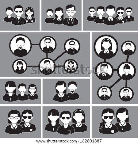 Business People Set - Isolated On Background - Vector Illustration, Graphic Design Editable For Your Design.  - stock vector