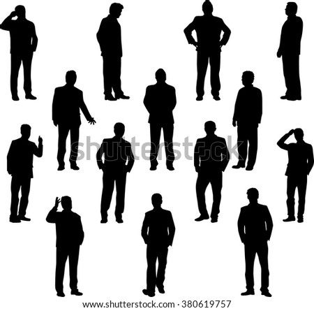 Business people. Silhouettes conceptual. - stock vector