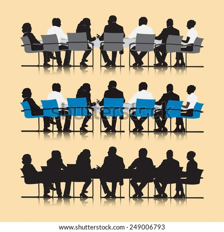 Business People Team Connection Corporate Vector Concept - stock vector
