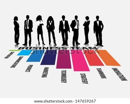 Business people team evaluation vector - stock vector