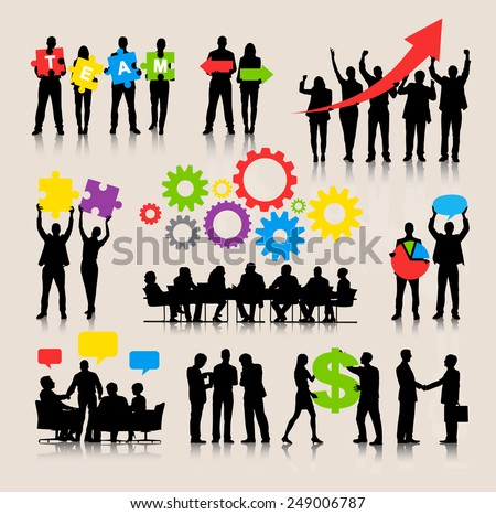 Business People Team Growth Success Corporate Vector Concept - stock vector