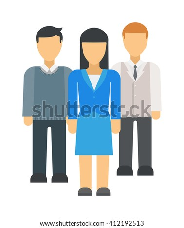 Business people team success celebration teamwork concept professional colleagues character vector. Business team people professional and colleagues business team people. Business team people. - stock vector