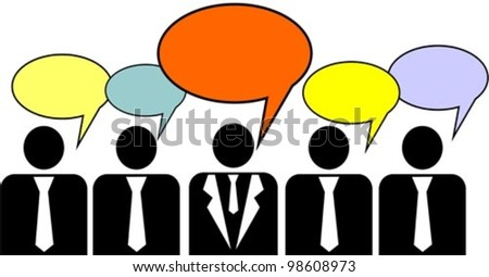 Business peoples, vector illustration - stock vector