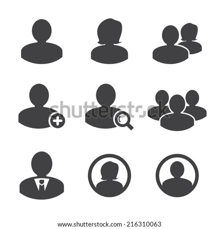 Business persons and user icon - stock vector