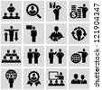 Business persons, businessman, management, human resources. Icons set. - stock vector