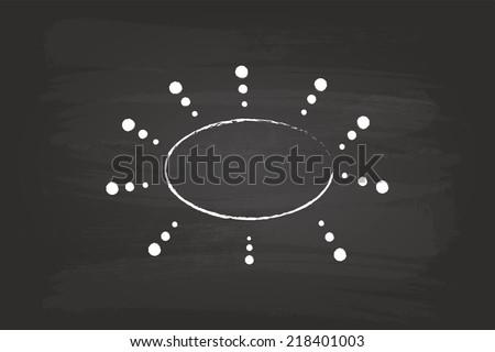 Business Plan Flow Chart Circles Hand Drawn On Blackboard - stock vector