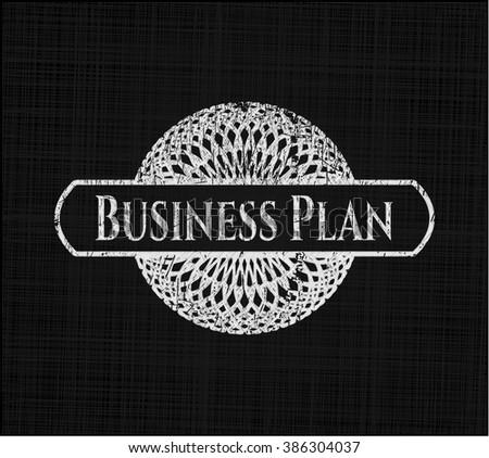 Business Plan written on a chalkboard - stock vector