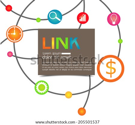 business planning with dot connection background  - stock vector