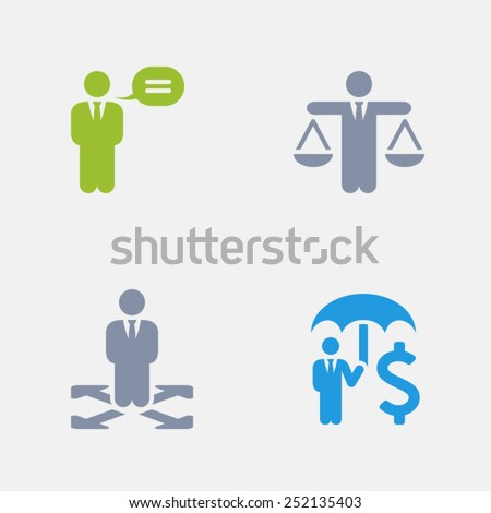 Business Policies Icons. Granite Icon Series. Simple glyph style icons designed on a 32x32 pixel grids. - stock vector