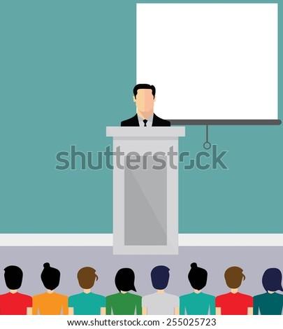 Business presentation - stock vector