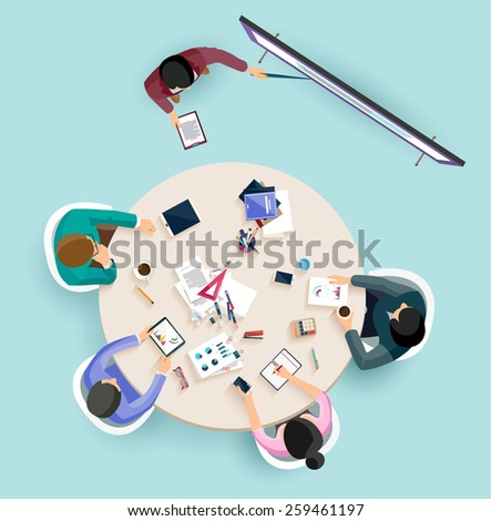 Business presentation. Flat design. - stock vector