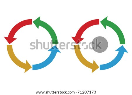 Business process diagram, colorful vector - stock vector