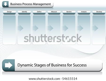 Business Process Management - stock vector