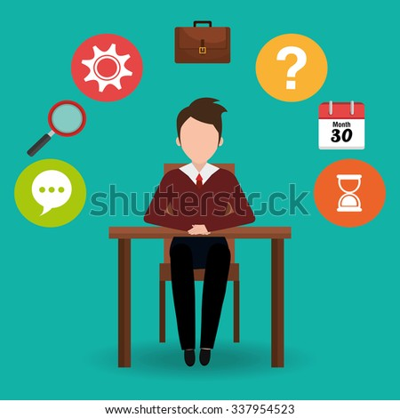 Business professional consulting graphic design, vector illustration - stock vector