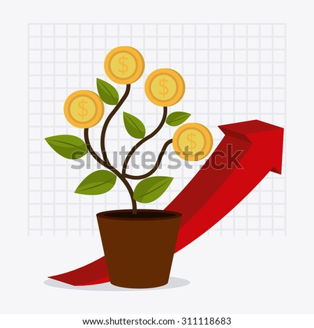 Business profit design, vector illustration eps 10. - stock vector