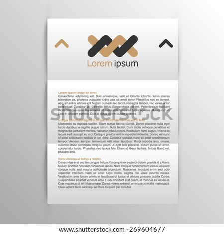 Business realistic A4 paper, vector - stock vector