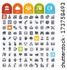 Business Related Icons Set - transparent quality icons : web, finance, office and people - stock vector