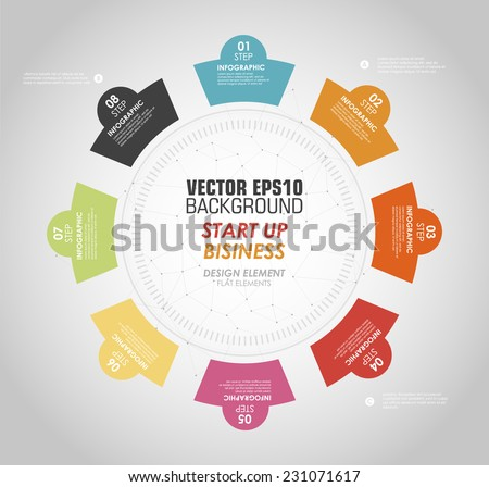 business round choice .flat choice. business choice in flat. - stock vector