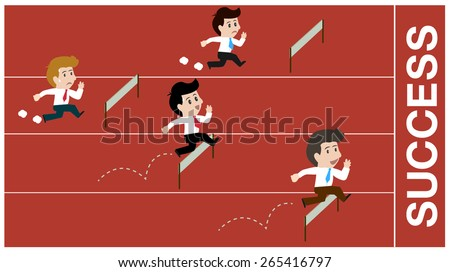 business running success and competition. - stock vector