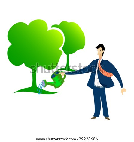 business sign #5 - corporate responsibility - stock vector