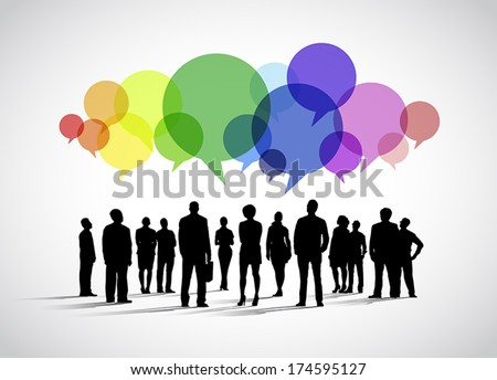 Business Social Networking Vector - stock vector