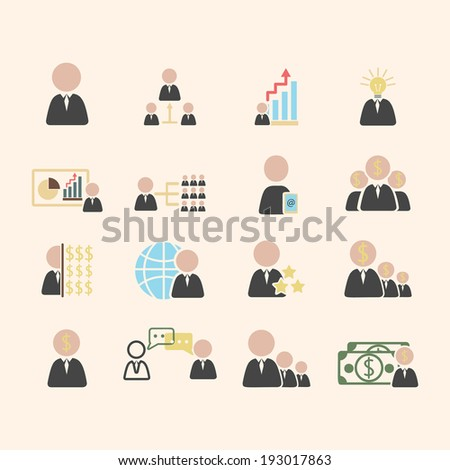 Business solution - stock vector