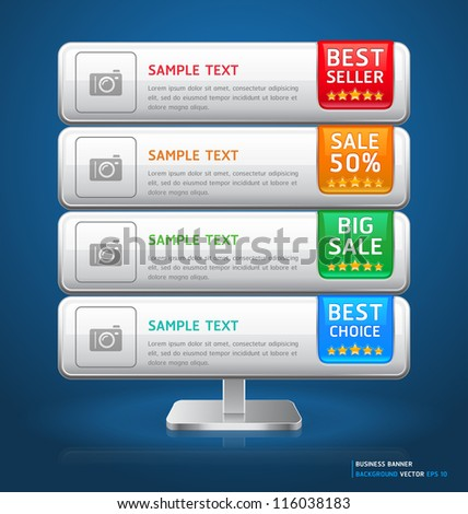 Business Stand Display Banner & Card Background. Vector illustration - stock vector