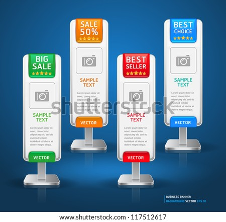 Business Stand Display Banner & Card Background. Vector illustration. More banner in my portfolio. - stock vector